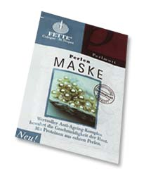 Fette Maskerade Maske Perlmutt