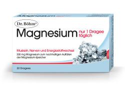 Dr. Böhm Magnesium Nur 1 Dragee Täglich