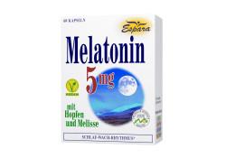Espara Melatonin 5mg mit Hopfen und Melisse Kapseln