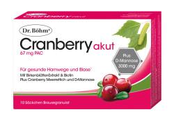 Dr. Böhm Cranberry Akut Brausegranulat